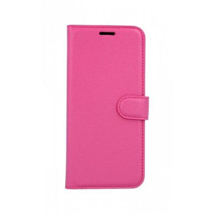 Flipové puzdro na Huawei Nova 3i ružové tmavé s prackou
