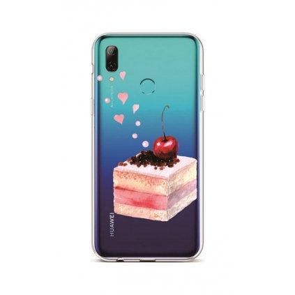 Zadný silikónový kryt na Huawei P Smart 2019 Cherry Cake