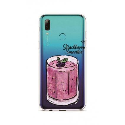 Zadný silikónový kryt na Huawei P Smart 2019 Blackberry Smoothie