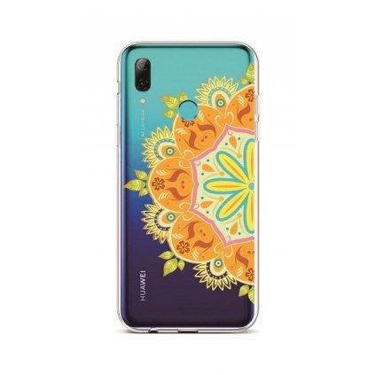 Zadný silikónový kryt na Huawei P Smart 2019 Orange Mandala