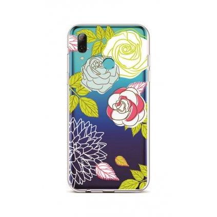 Zadný silikónový kryt na Huawei P Smart 2019 Abstract Roses