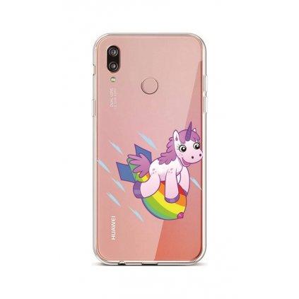 Zadný silikónový kryt na Huawei P20 Lite Flying Unicorn