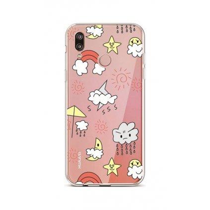 Zadný silikónový kryt na Huawei P20 Lite Rainy Day