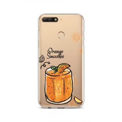 Zadný silikónový kryt na Huawei Y6 Prime 2018 Orange Smoothie