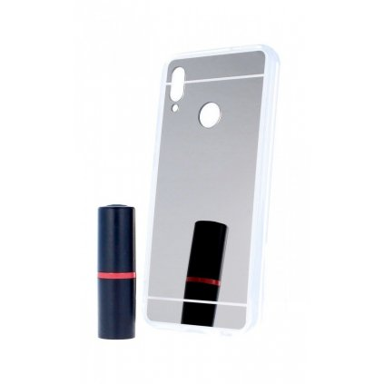 Zadný zrkadlový kryt na Huawei P Smart 2019 silikón strieborný
