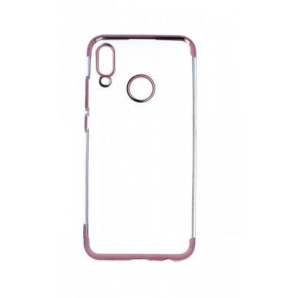 Zadný silikónový kryt na Huawei P Smart 2019 Frame ružový