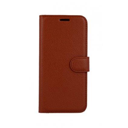 Flipové puzdro na Huawei Nova 3 hnedej s prackou