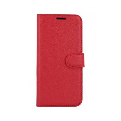 Flipové puzdro na Huawei Nova 3 červené s prackou