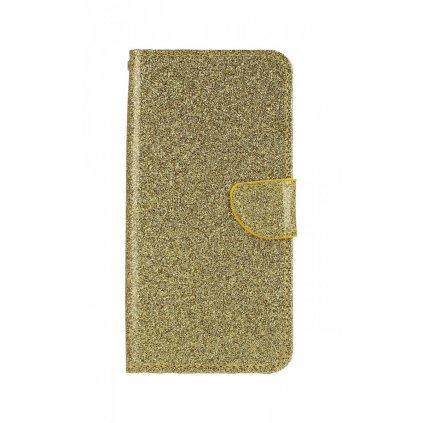 Flipové puzdro na Huawei Nova 3i glitter zlaté