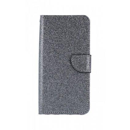 Flipové puzdro na Huawei P20 Lite glitter šedej