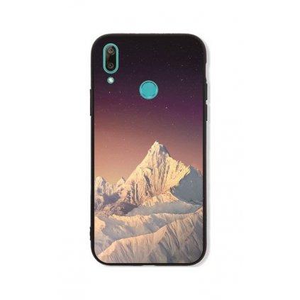 Zadný pevný kryt LUXURY na Huawei Y7 2019 White Mountains