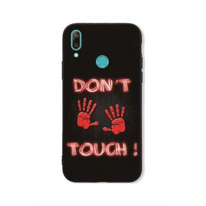 Zadný pevný kryt LUXURY na Huawei Y7 2019 Dont Touch Red