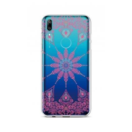 Zadný silikónový kryt na Huawei Y6 2019 Pink Mandala