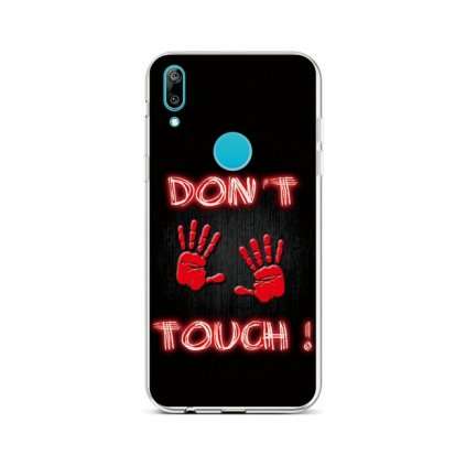 Zadný silikónový kryt na Huawei Y6 2019 Dont Touch Red