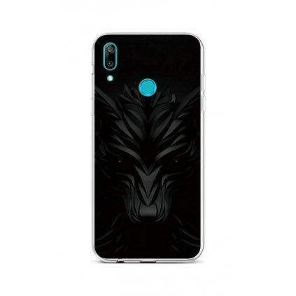 Zadný silikónový kryt na Huawei Y7 2019 Čierny vlk