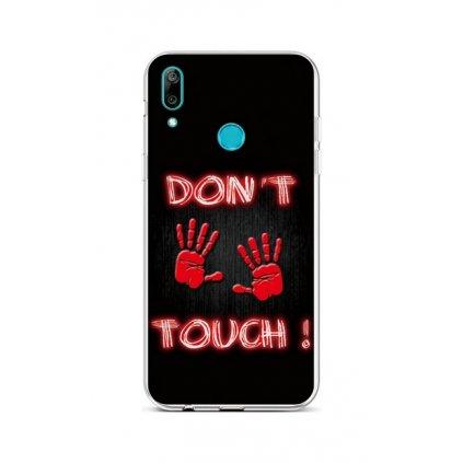 Zadný silikónový kryt na Huawei Y7 2019 Dont Touch Red