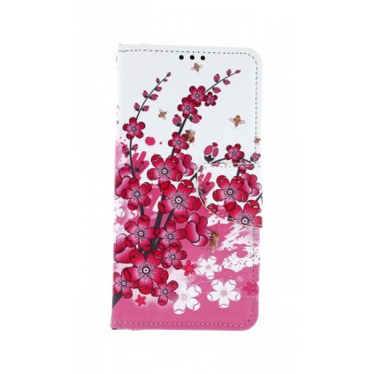 Flipové puzdro na Huawei Y6 2019 Kvety textil