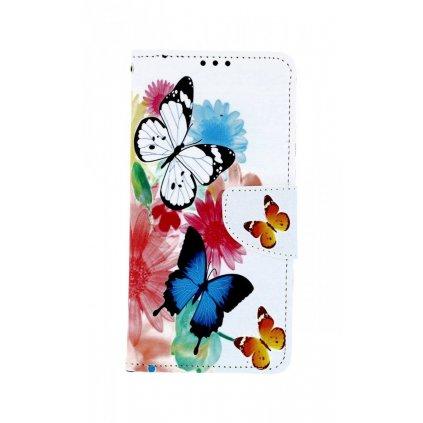 Flipové puzdro na Huawei Y6 2019 Farebné s motýlikmi