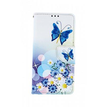 Flipové puzdro na Huawei Y6 2019 Biele s motýlikom