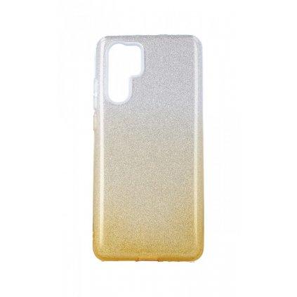 Zadný pevný kryt na Huawei P30 Pro glitter strieborno-oranžový