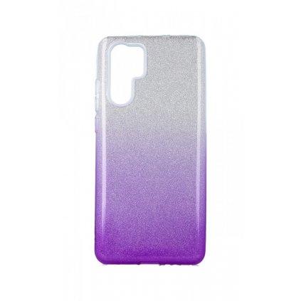 Zadný pevný kryt na Huawei P30 Pro glitter strieborno-fialový