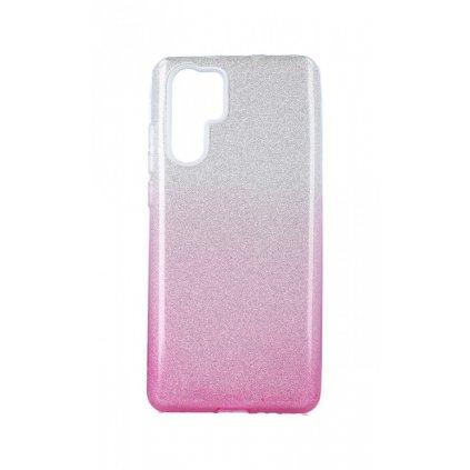Zadný pevný kryt na Huawei P30 Pro glitter strieborno-ružový