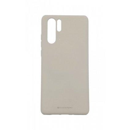 Zadný silikónový kryt Mercury Soft Case na Huawei P30 Pro sivý