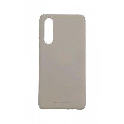 Zadný silikónový kryt Mercury Soft Case na Huawei P30 sivý