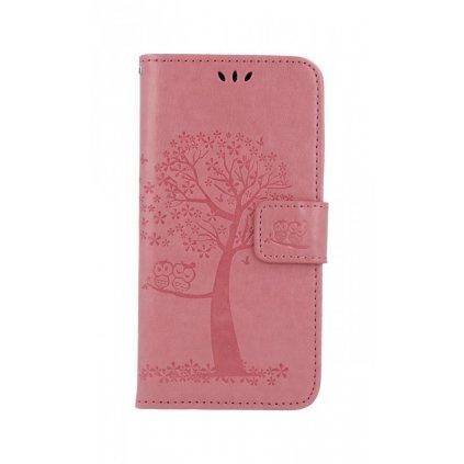Flipové puzdro na Huawei P30 Lite Ružový strom sovičky