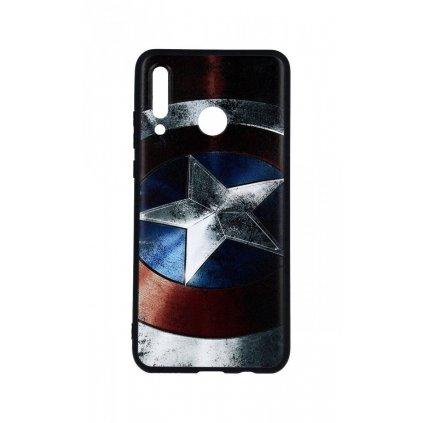 Zadný 3D silikónový kryt na Huawei P30 Lite Captain America