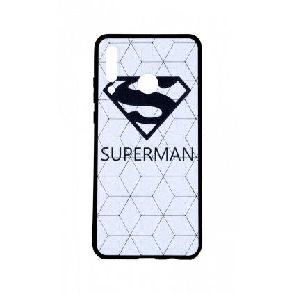 Zadný 3D silikónový kryt na Huawei P30 Lite Biely Superman