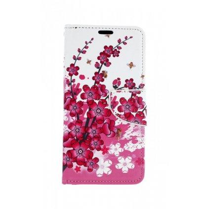 Flipové puzdro na Huawei P30 Lite Kvety textil