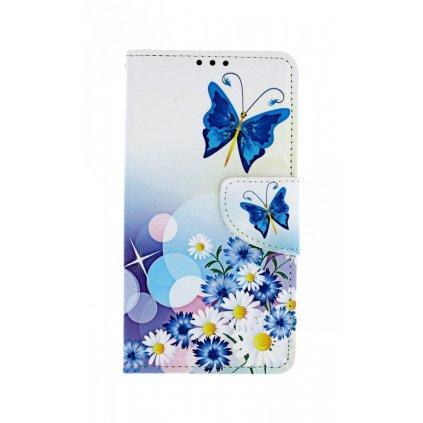 Flipové puzdro na Huawei Y5 2019 Biele s motýlikom