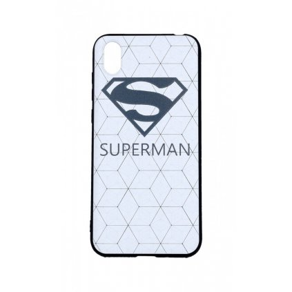 Zadný 3D silikónový kryt na Huawei Y5 2019 Biely Superman