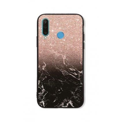 Zadný pevný kryt LUXURY na Huawei P30 Lite Sparkling Marble