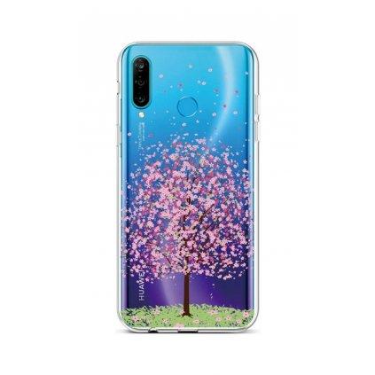 Zadný silikónový kryt na Huawei P30 Lite Blossom Tree