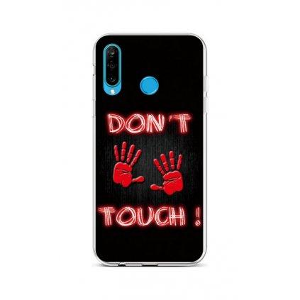 Zadný silikónový kryt na Huawei P30 Lite Dont Touch Red