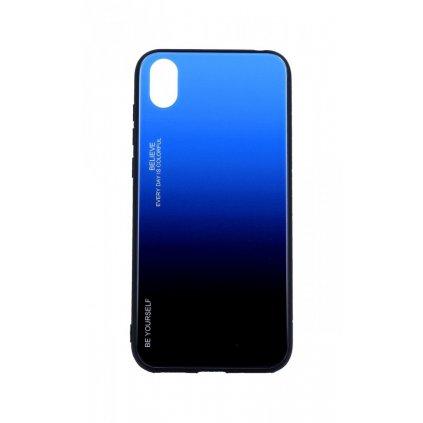 Zadný pevný kryt LUXURY na Huawei Y5 2019 dúhový modrý