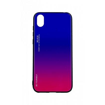 Zadný pevný kryt LUXURY na Huawei Y5 2019 dúhový fialový