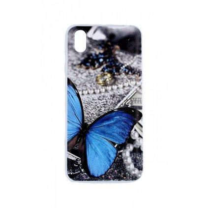 Zadný silikónový kryt na Huawei Y5 2019 Modrý motýlik