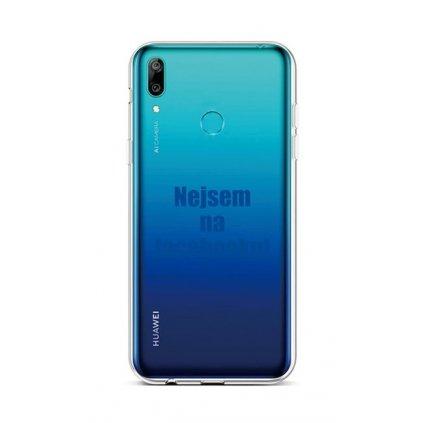 Zadný silikónový kryt na Huawei Y6 2019 Nie som na Facebooku