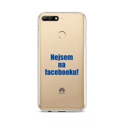 Zadný silikónový kryt na Huawei Y6 Prime 2018 Nie som na Facebooku