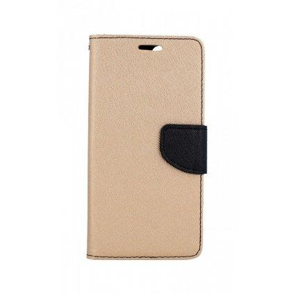 Flipové puzdro na Huawei P Smart čierno-zlaté