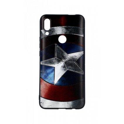 Zadný 3D silikónový kryt na Huawei P Smart Z Captain America