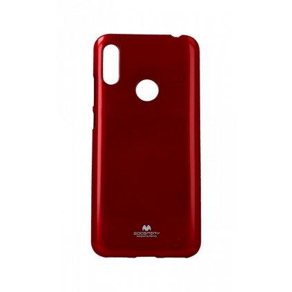 Zadný silikónový kryt Mercury Jelly Case na Huawei Y6 2019 červený