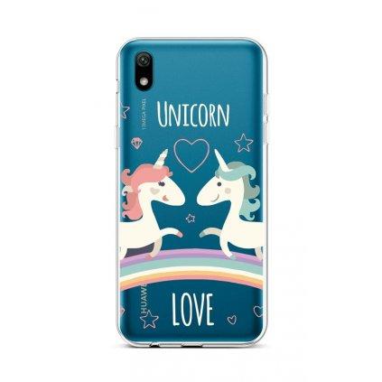 Zadný silikónový kryt na Huawei Y5 2019 Unicorn Love
