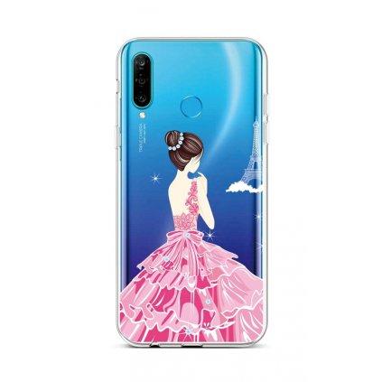 Zadný silikónový kryt na Huawei P30 Lite Pink Princess