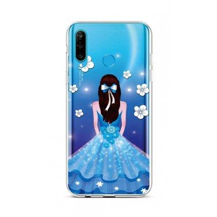 Zadný silikónový kryt na Huawei P30 Lite Blue Princess