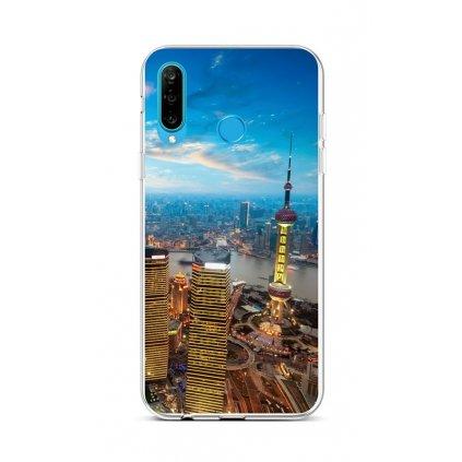 Zadný silikónový kryt na Huawei P30 Lite City