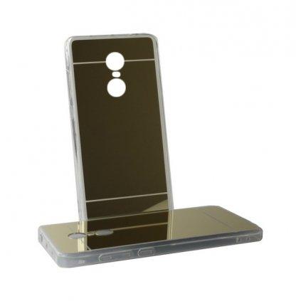Zadný zrkadlový kryt na Xiaomi Redmi Note 4 Global silikón zlatý VADA